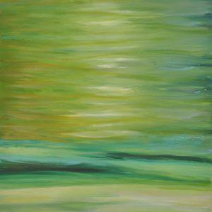 Attersee türkisgrün | 80 x 80cm | 2012