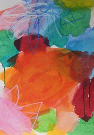 Blumenwiese 3 | Acryl auf Leinwand | 50 x 70cm | 2019