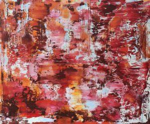 der rote fluss (donau) | 120 x 100cm | 2021